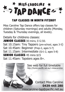 Miss Caroline's tap classes